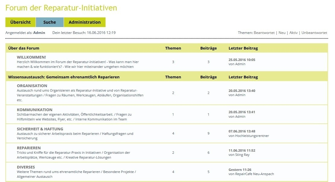 Forum der Reparatur-Initiativen online