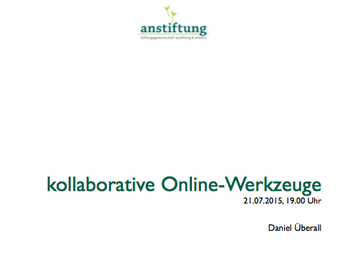 Webinar: kollaborative Online-Tools